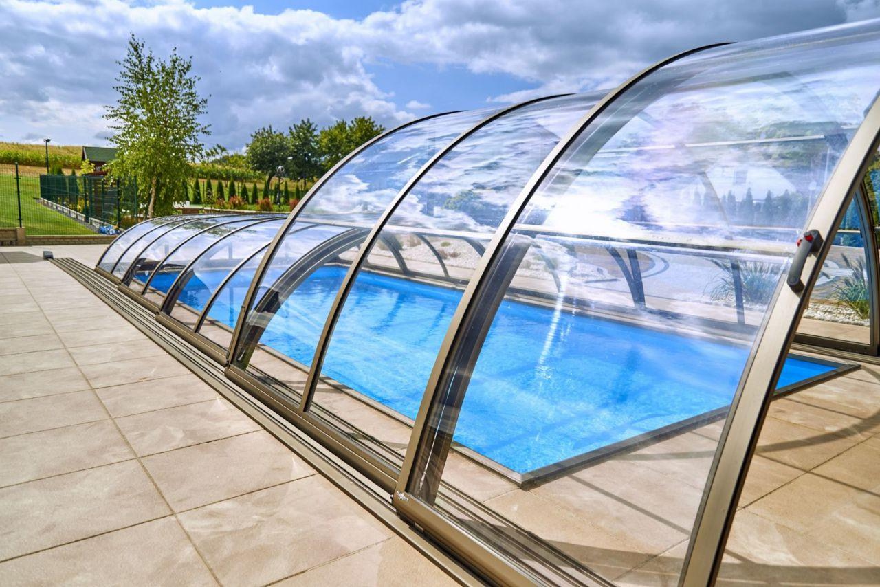 Prime Hybrid Poolüberdachung C Clear