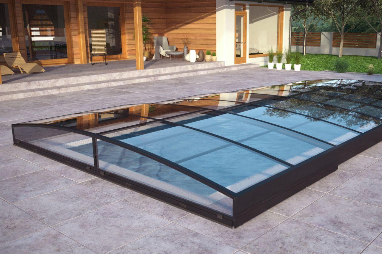 Pool-Schiebehalle Albixon Sydney Clear C