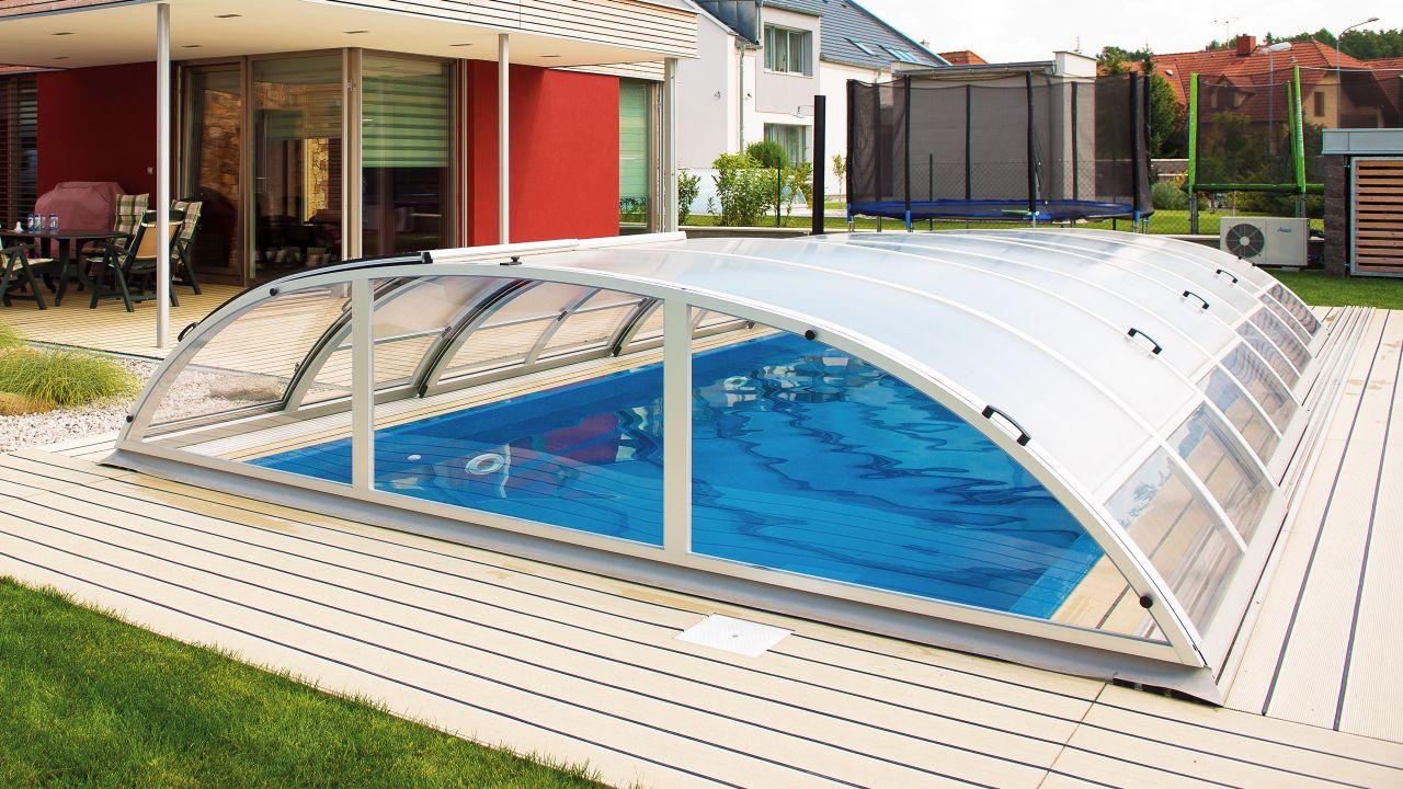 Schwimmbecken Überdachung Dresden Clear 430