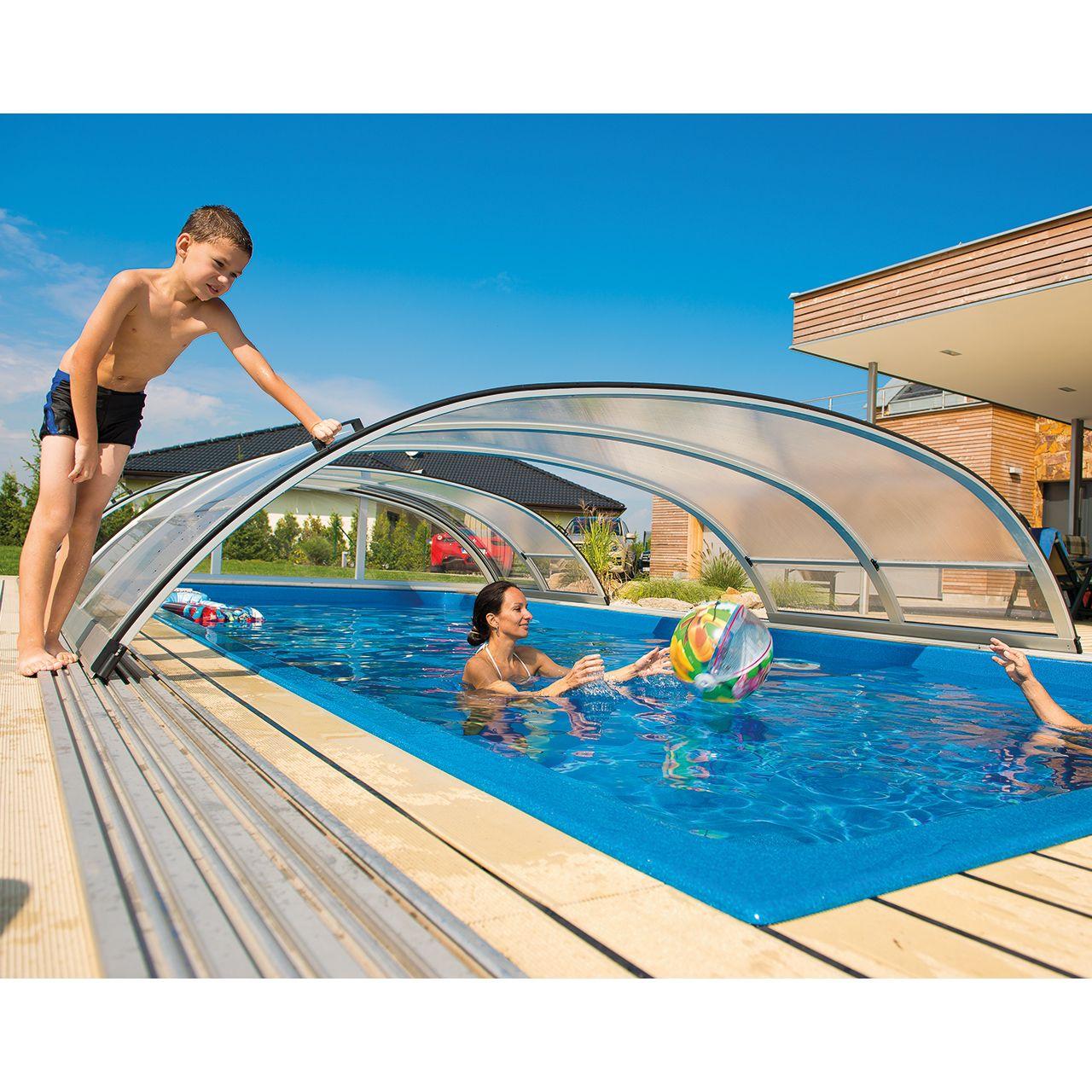 Schwimmbad-Überdachung Dresden Clear 374