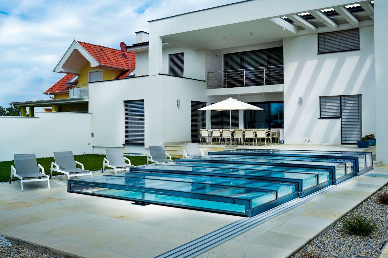 Prime Design Schwimmbeckenüberdachung B Clear