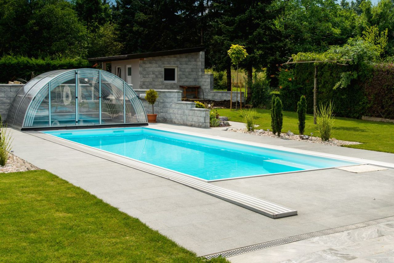 Prime Schwimmbad Überdachung Garden A Klar