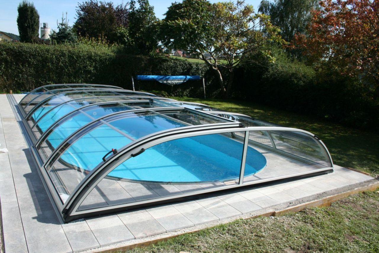 Prime Schwimmbeckenüberdachung Flat C Clear