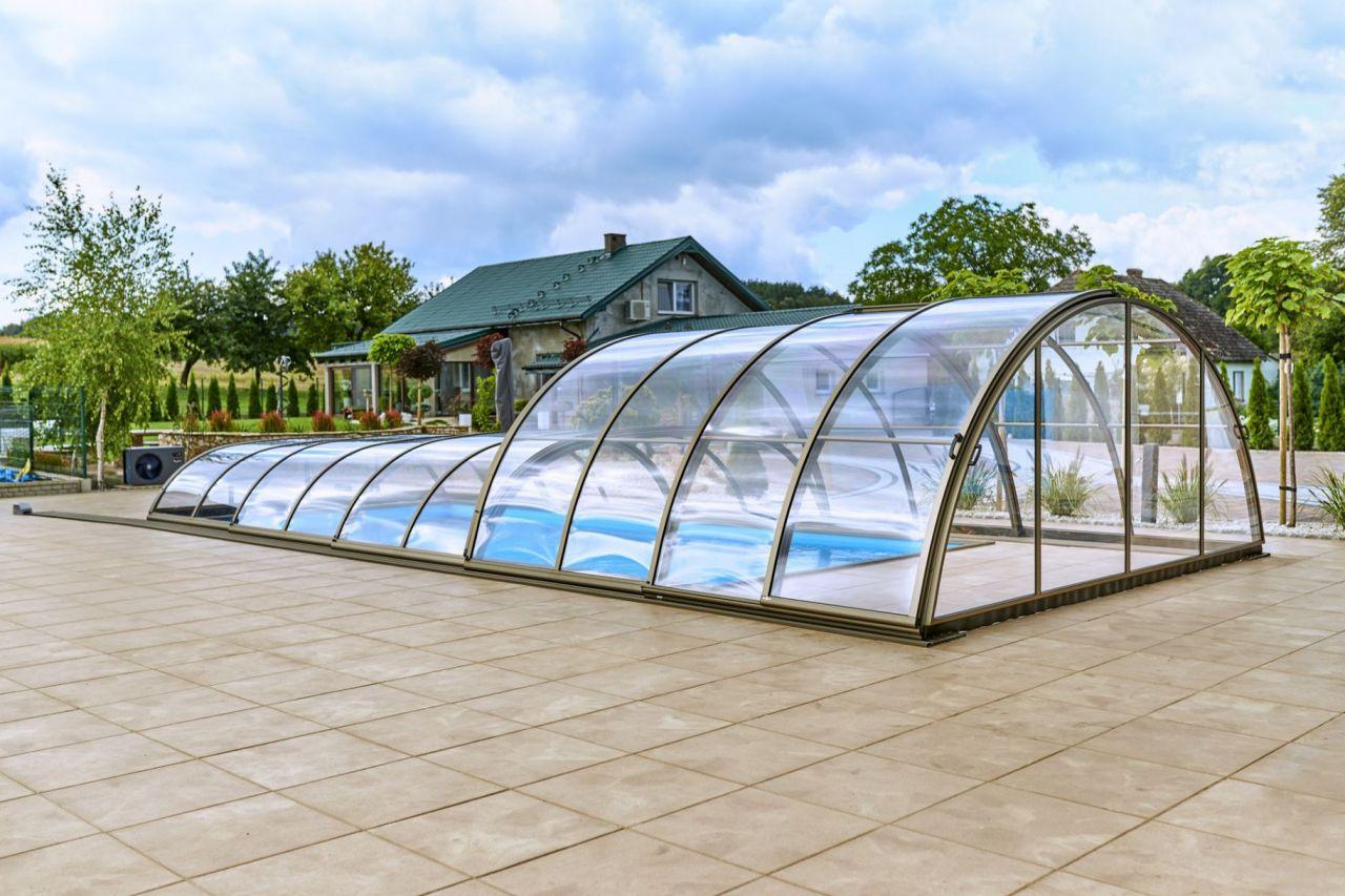 Prime Hybrid Poolüberdachung Clear
