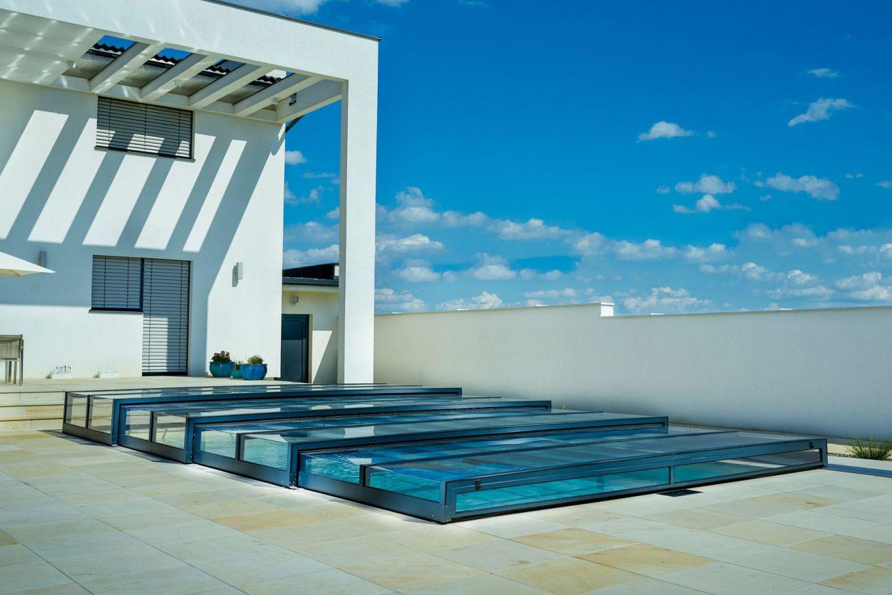 Prime Design Schwimmbeckenüberdachung A Clear